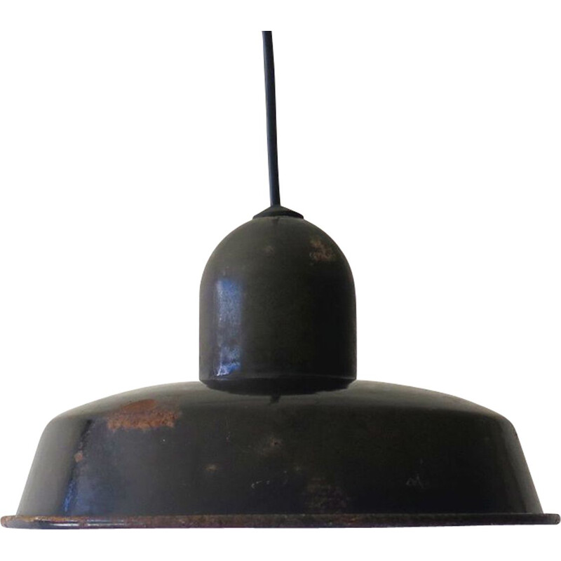 Vintage industrial suspension lamp 1950