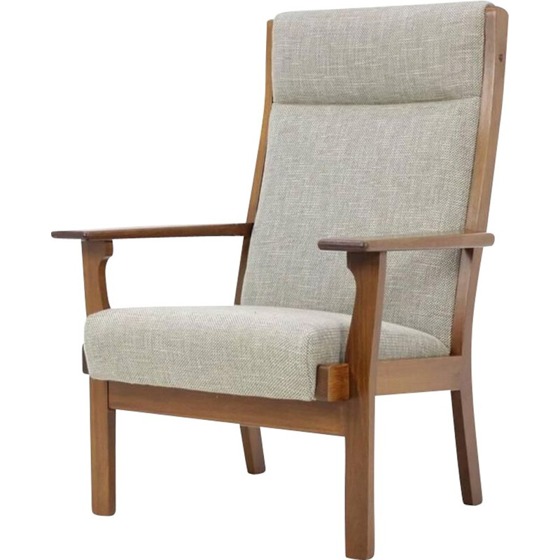Vintage high back armchair by Hans Wegner for Getama