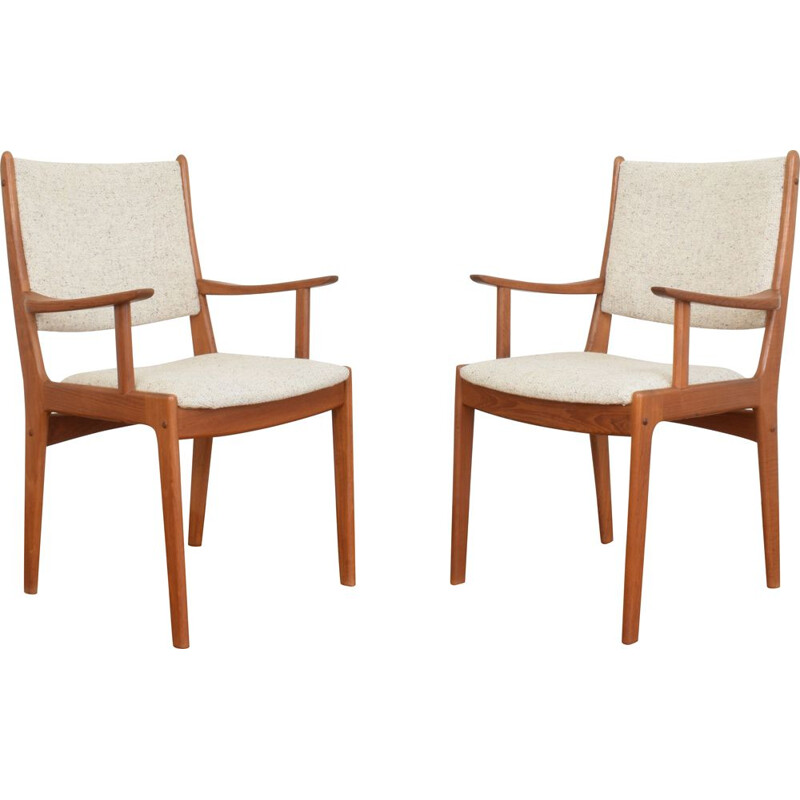 Pair of vintage Danish teak chairs by Johannes Andersen for Uldum Mobelfabrik 1960