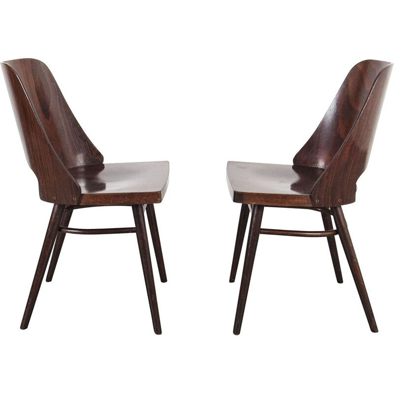 Pair of vintage chairs produced by Ton, Czechoslovakia, 1960