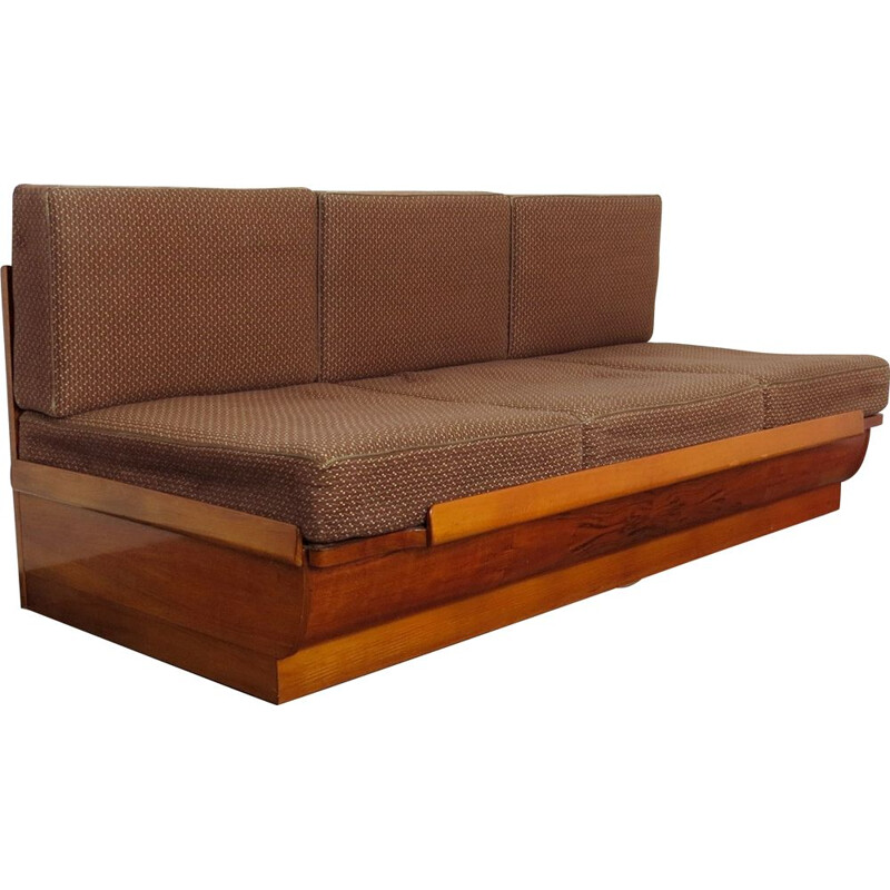 Vintage Folding sofa  by UP Zavody Czechoslovakia 1950s