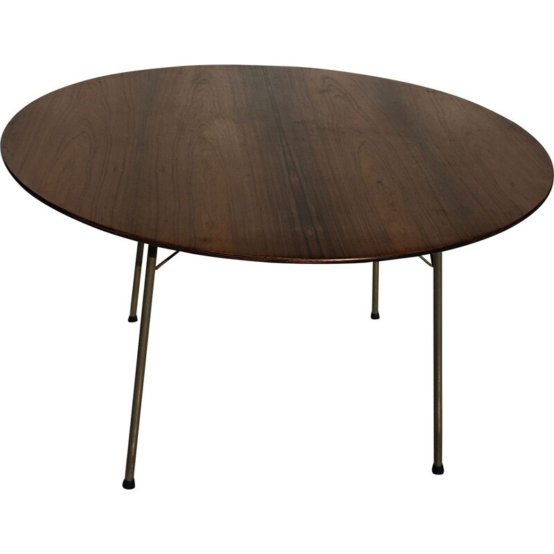 Vintage round rosewood table Arne Jacobsen