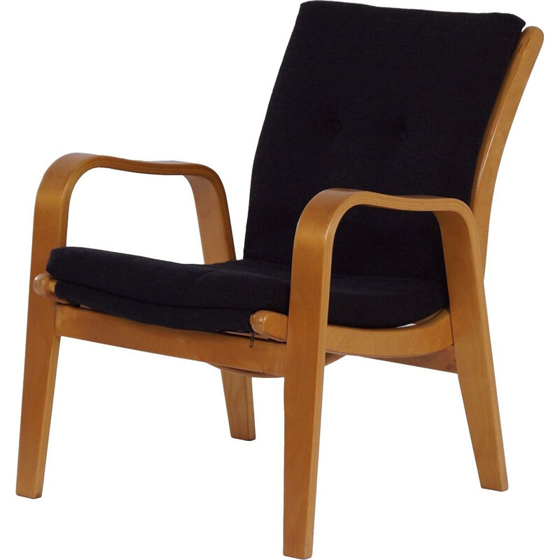 Vintage Black Armchair by Cees Braakman for Pastoe 1950s