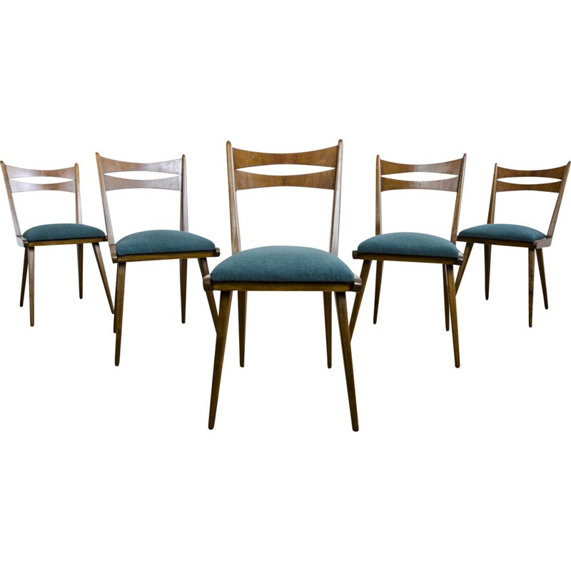 Set of 5 vintage Dining Chairs 1960s