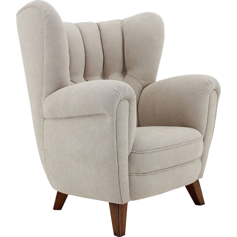 Vintage danish wing back chair 1950
