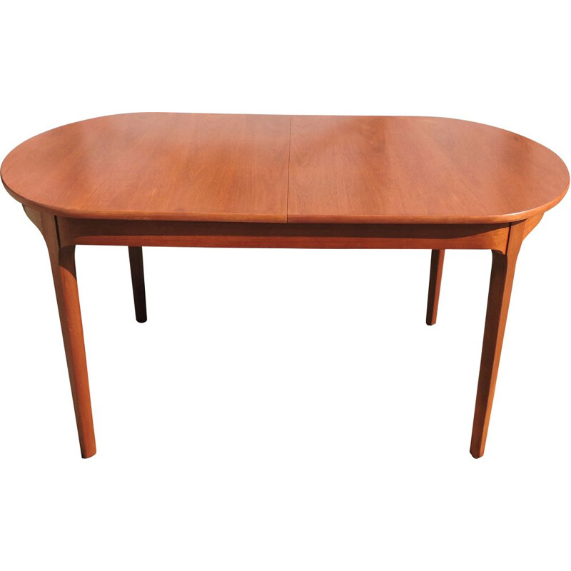 Vintage teak extensible dining table by McIntosh 1960