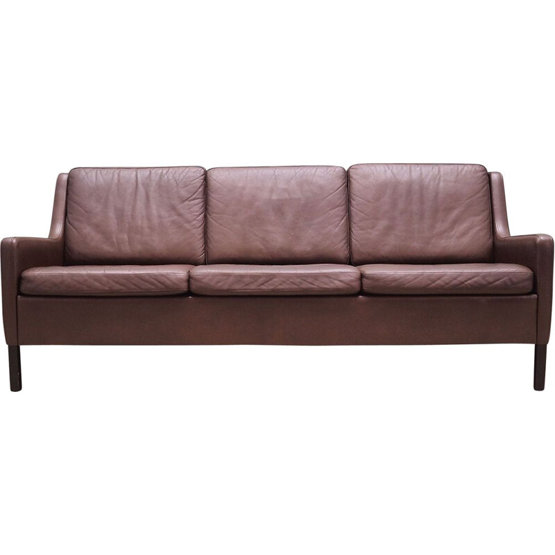 Vintage Sofa leather Danish 1970s