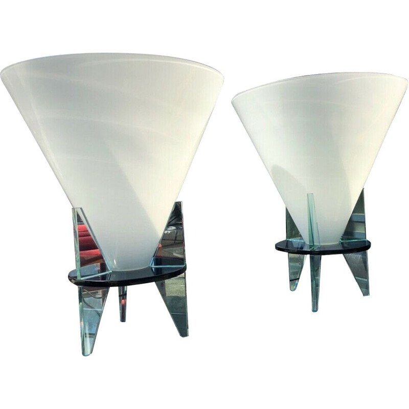 Pair of vintage Italian Rodolfo Dordoni lamp for Fontana Arte Model Otéro 1980s