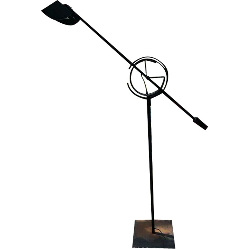 Vintage floor lamp Il tempo in steel by Relco Italia 1955s