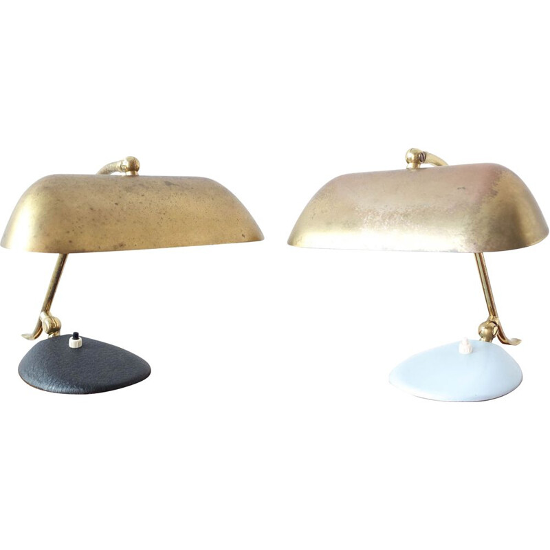 Pair of vintage Brass Lamps 1950s