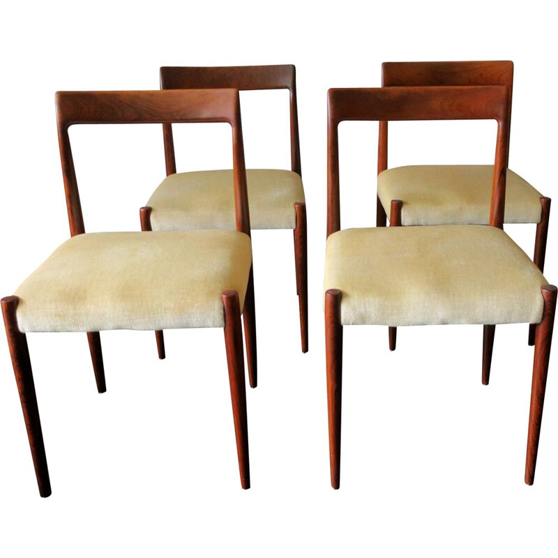 Set of 4 Mid-Century Danish Rosewood Dining chairs 1960s
