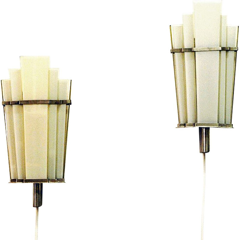Pair of vintage Art Deco Wall sconces by Zenith Germany 1930s