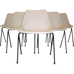 "Set of 6 Hille chairs ""Polyprop"" in plastic, Robin DAY - 1960s"