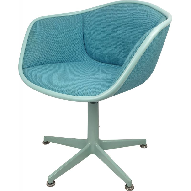 Vintage sky blue armchair by Pierre Paulin for Artifort 1960