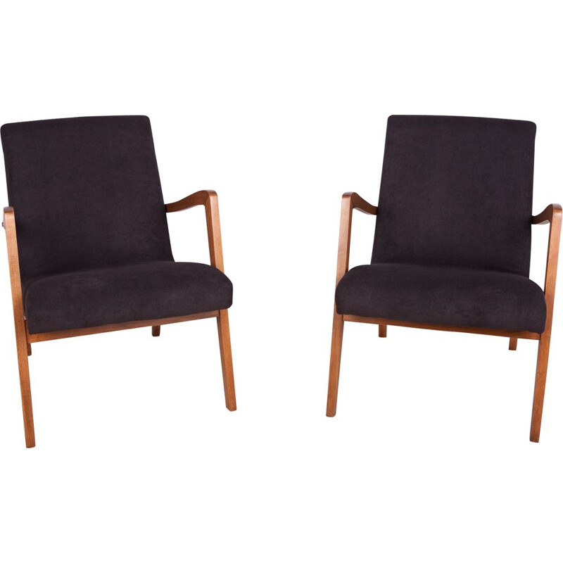Pair of vintage Beech Armchairs from Bystrzyckie 1960s