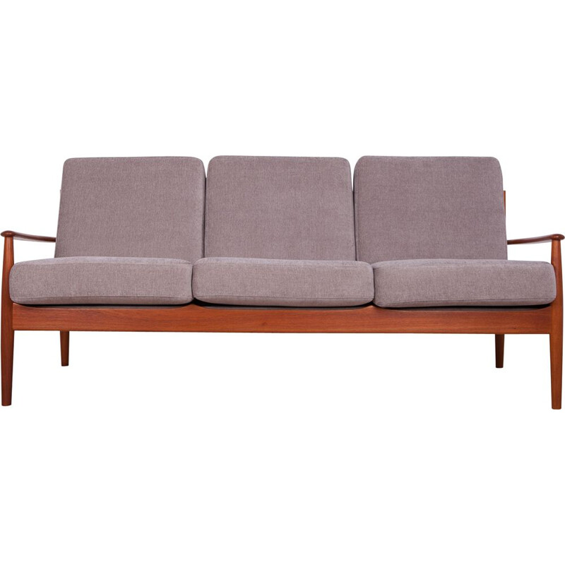 Vintage Danish modern teak sofa by Grete Jalk for France & Son 1960
