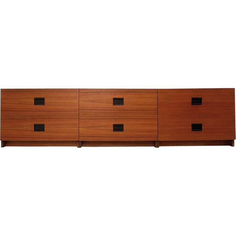Vintage sideboard with 3 drawer boxes by Cees Braakman for Pastoe, 1960