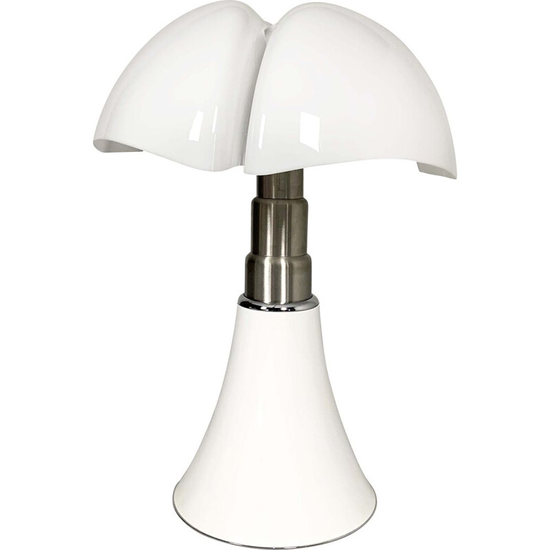 Vintage White Pipistrello Table Lamp by Gae Aulenti for Martinelli Luce, 1990s