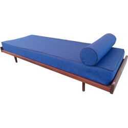 Blue daybed in teak wood - 1960s