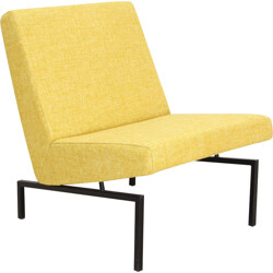 """Steiner """"Tempo"""" yellow low chair, Joseph André MOTTE - 1960"""