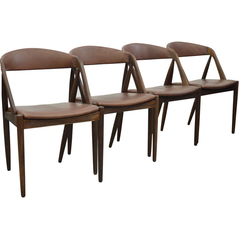 Set of 4 vintage Ddining chairs by Kai Kristiansen 1960s