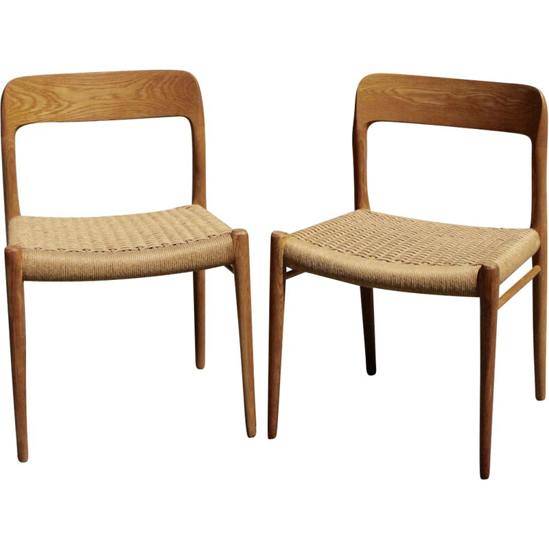 Pair of vintage chair by Otto Moller 1960s