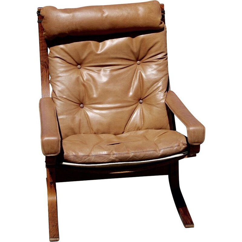 iganr relling vintage leather armchair 1960