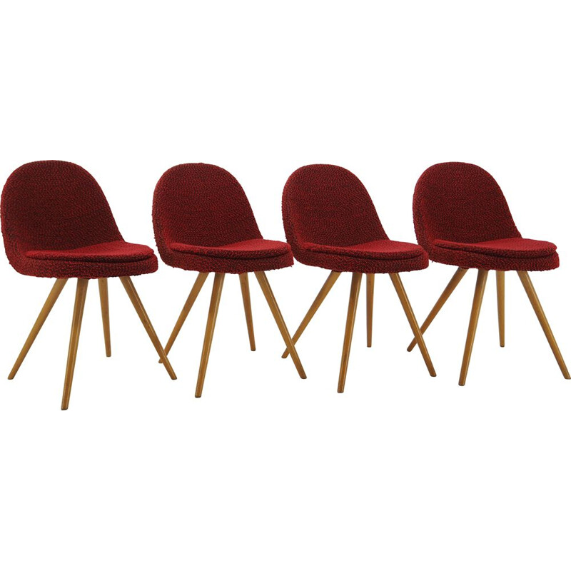 Set of 4 vintage chairs Miroslav Navrátil 1960