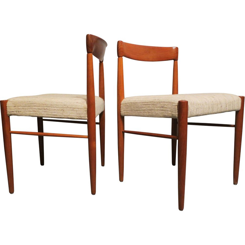 Pair of vintage Danish chairs by Henry W. Klein 1960