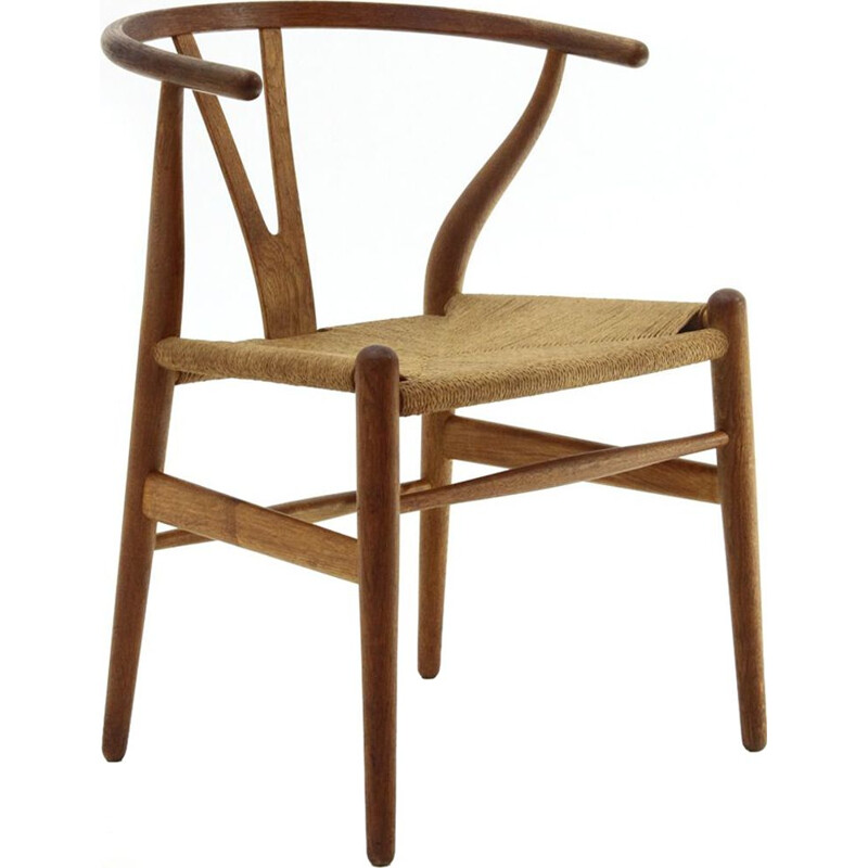 Vintage Wishbone durmast chair by Hans Wegner for Carl Hansen & Son 1960