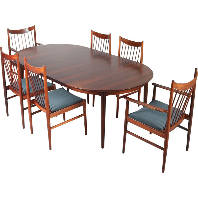 Vintage Dining set by Arne Vodder for Sibast Denmark 1960s