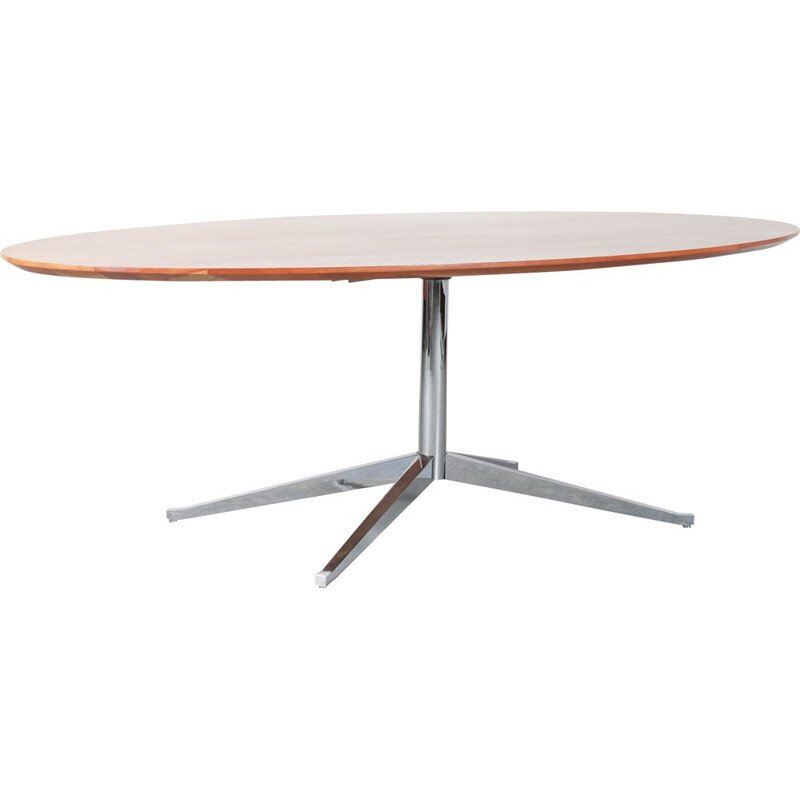 Vintage Oval Dining Table by Florence Knoll for Knoll International USA 1970