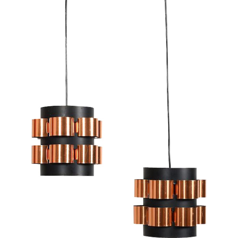 Pair of Mid Century Hanging Lamps by Werner Schou 1960s