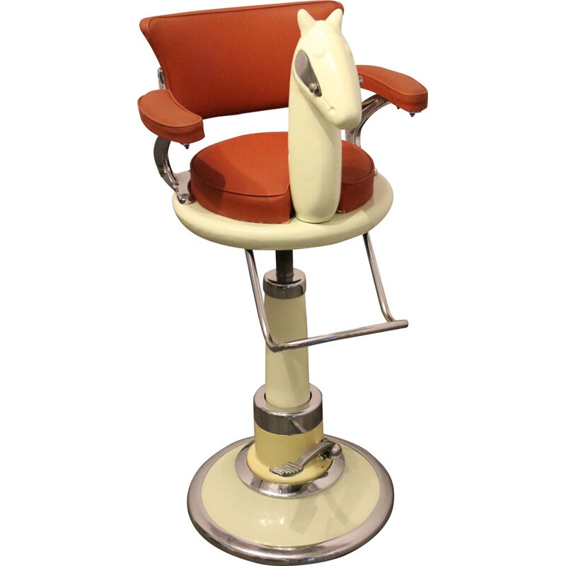 Vintage Barber chair for children by Takara company - Belmont UK  1950s