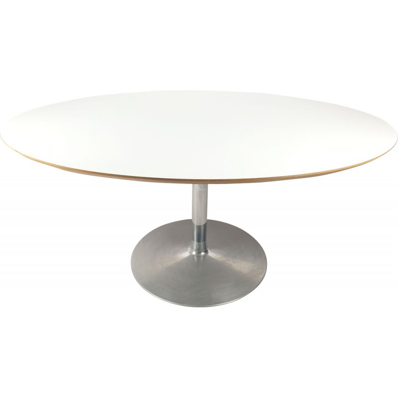 Vintage Oval Dining Table by Pierre Paulin for Artifort, 1980s