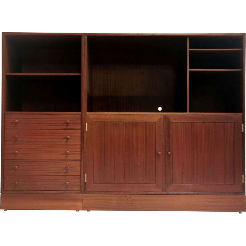 Vintage HG Furniture Mid Century Vintage Bookcase Wall Unit, Danish 1970s