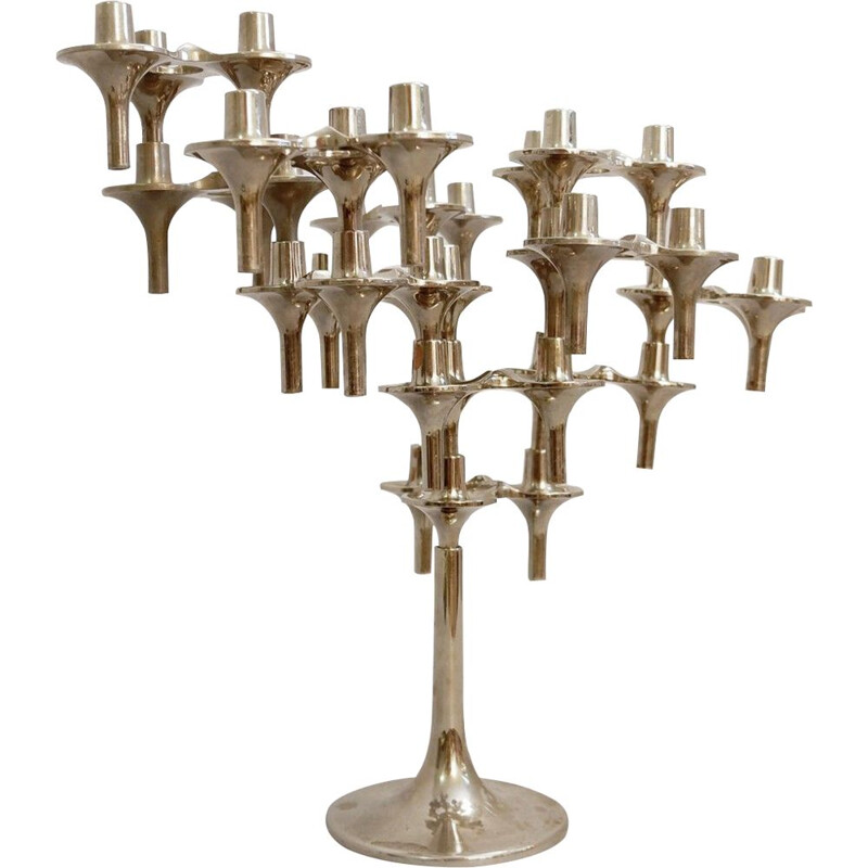 Lot of 12 Orion modular vintage candleholders by BMFFritz Nagel & Ceasar Stoffi 1960