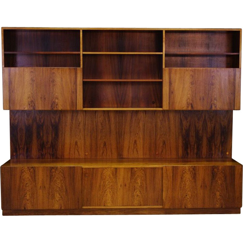 Vintage wall system by Ib Kofod Larsen in rosewood 1960