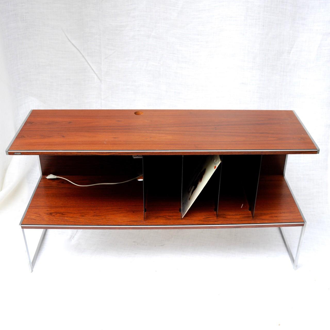 Mid Century Bang Olufsen Hi Fi Cabinet In Rosewood 1960s  # Meuble Hifi Vintage