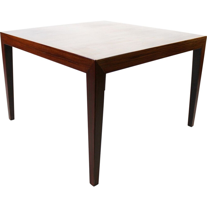 Vintage Coffee table of rosewood by Severin Hansen for Haslev Furniture 1960s