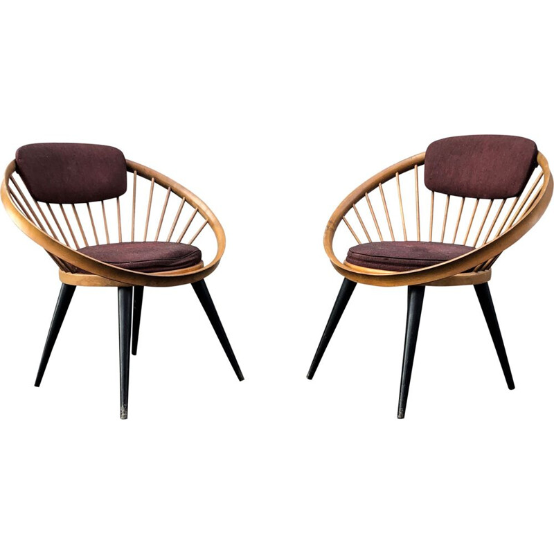 Set of 2 Lounge Chairs by Yngve Ekström for Swedese, 1960
