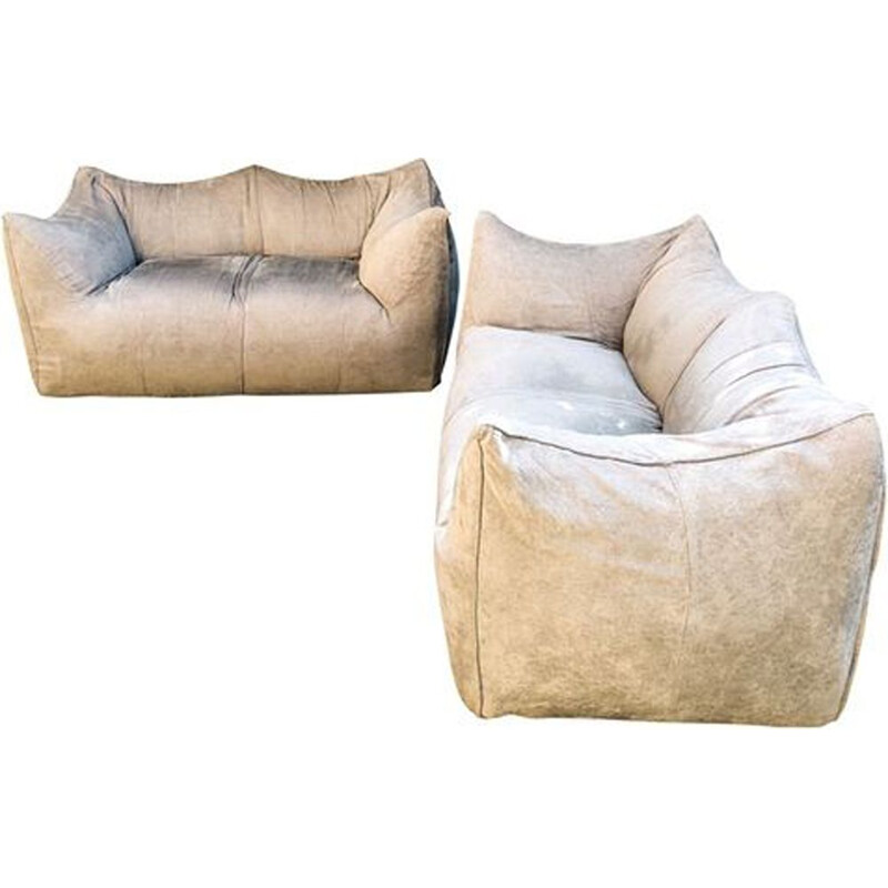 Pair of Vintage Le Bambole Sofas by Mario Bellini for B&B Italia 1976
