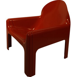 Red Kartell 4784 chair, Gae AULENTI - 1970s