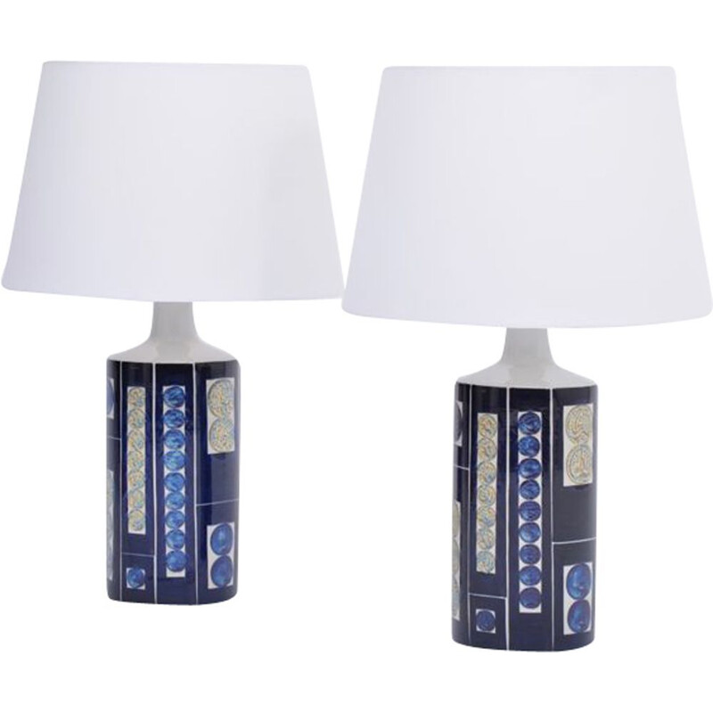 Pair of vintage Royal 7 Tenera table lamps by Ingelise Kofoed for Fog and Morup, 1967
