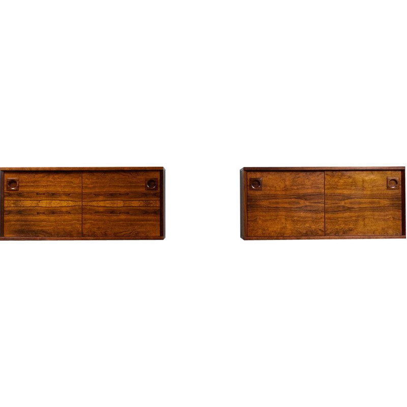 Pair of Vintage Wall Units in rosewwod 1960s