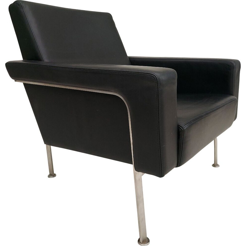 Vintage Lounge armchair by Arne Vodder, AV56 leather Danish 1956
