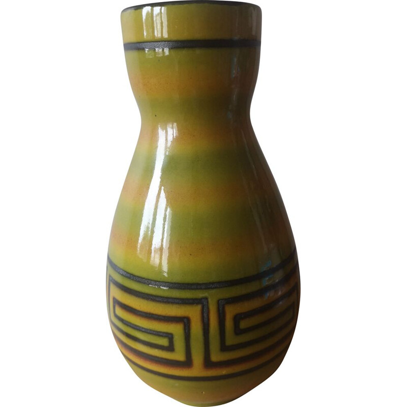 Vintage ceramic vase Elchinger France 1950