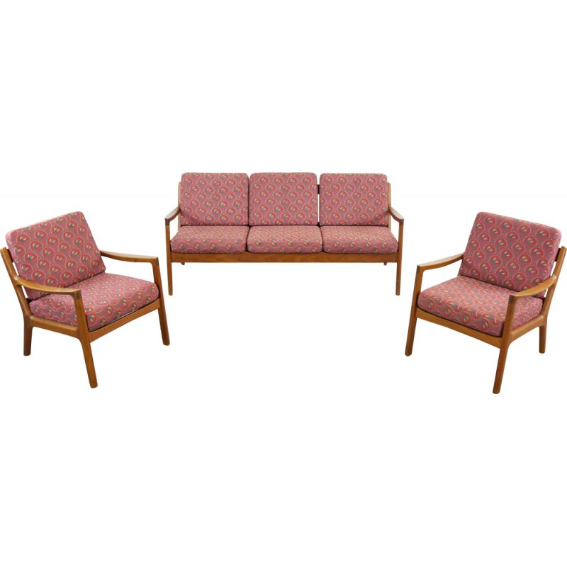 Vintage Senator Living Room with Sofa and Chairs by Ole Wanscher for France and Son 1960