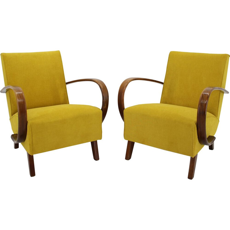 Pair of Jindrich Halabala Armchairs 1950s