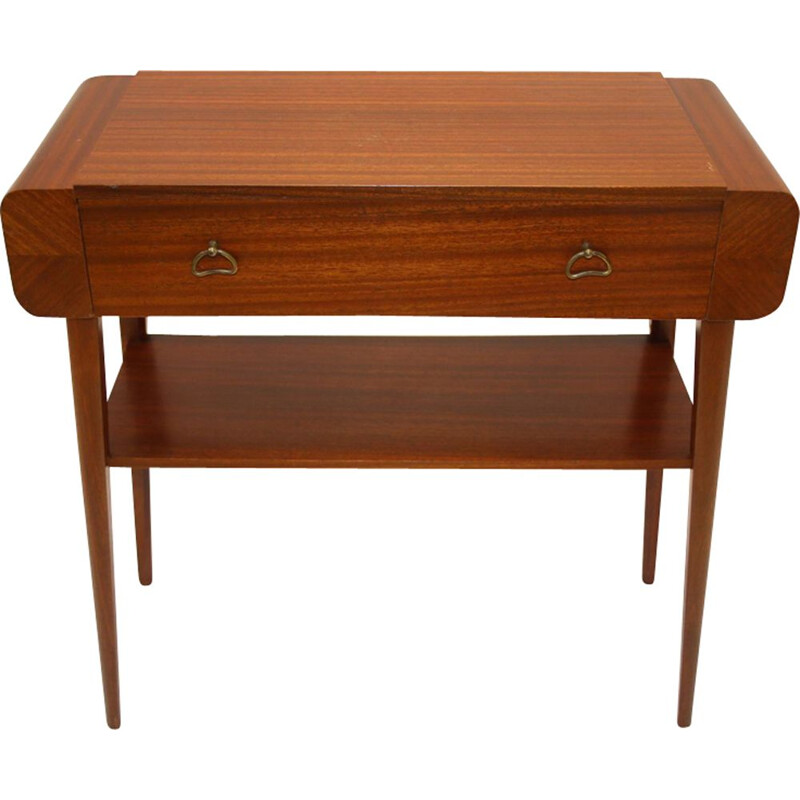 Vintage bedside table  with Birch drawer made in sweden 1950s